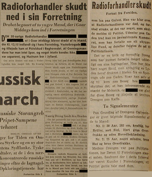 The Article is from the arcives at The Museum of Danish Resistance 1940-1945, Copenhagen, Denmark.
